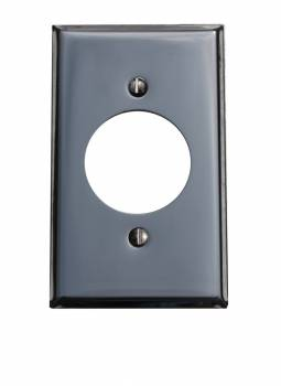 Switchplate Chrome Single Receptacle 18146grid
