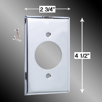 spec-<PRE>Switchplate Chrome Single Receptacle </PRE>