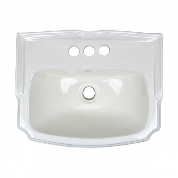 <PRE>Biscuit China Bathroom Pedestal Sink Cloakroom Rectangular Gloss Centerset</PRE>zoom3