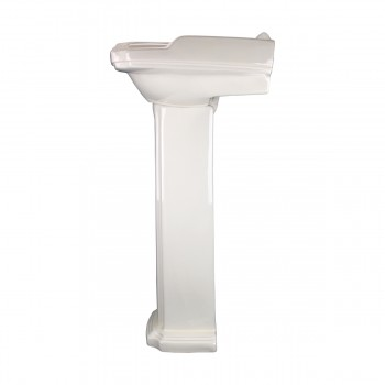 <PRE>Biscuit China Bathroom Pedestal Sink Cloakroom Rectangular Gloss Centerset</PRE>zoom5