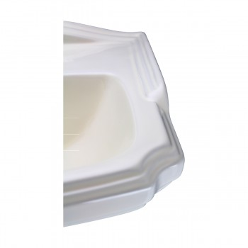 <PRE>Biscuit China Bathroom Pedestal Sink Cloakroom Rectangular Gloss Centerset</PRE>zoom11
