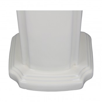 <PRE>Biscuit China Bathroom Pedestal Sink Cloakroom Rectangular Gloss Centerset</PRE>zoom15
