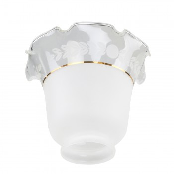 <PRE>Glass Lamp Shades Frosted Glass Tulip 4.5inchH x 2.25&quot; Fitter </PRE>zoom6