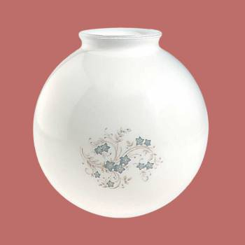 <PRE>Glass Lamp Shade White/Blue Globe 8.25inchH x 4&quot; Fitter </PRE>zoom2