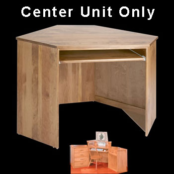 spec-<PRE>Corner Desk Honey Solid Pine Center Corner Desk Unit Honey Pine Stain </PRE>