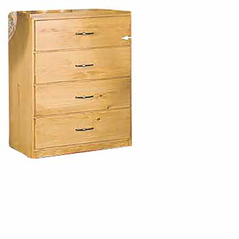 Shaker Honey Solid Pine Shaker 4 Drawer Unit Honey Pine 30 in. H Machi182114grid