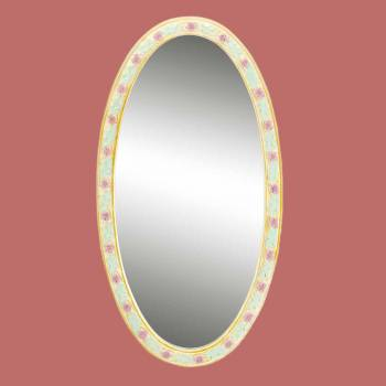<PRE>Victorian Vanity Mirror Oval Poly Flower Frame </PRE>zoom2