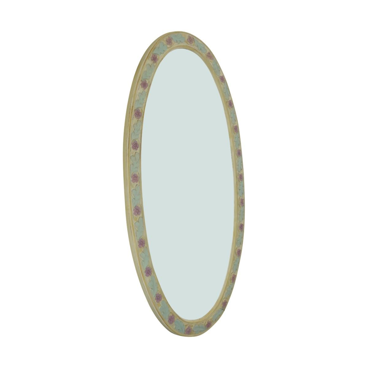 Victorian Vanity Mirror Oval Poly Flower Frame Oval Mirror Victorian Vanity Mirror Flower Frame Mirror