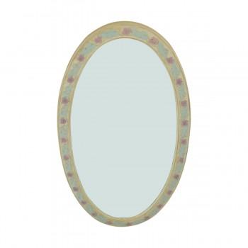 <PRE>Victorian Vanity Mirror Oval Poly Flower Frame </PRE>