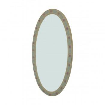 <PRE>Victorian Vanity Mirror Oval Poly Flower Frame </PRE>zoom5