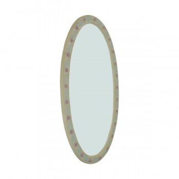 <PRE>Victorian Vanity Mirror Oval Poly Flower Frame </PRE>zoom6