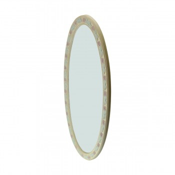 <PRE>Victorian Vanity Mirror Oval Poly Flower Frame </PRE>zoom8