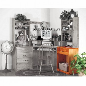 Office Desk Unfinished Solid Pine Printer Stand 1 Drawer 182210grid