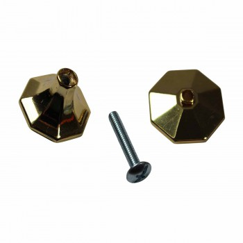 <PRE>Vintage Cabinet Knobs Solid Brass w/ Backplate 1inch </PRE>zoom5