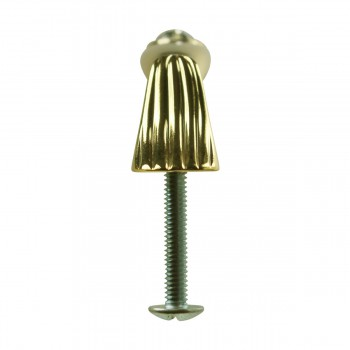 <PRE> Vintage Cabinet Pull Gold/Glass 4 3/8inch </PRE>zoom3