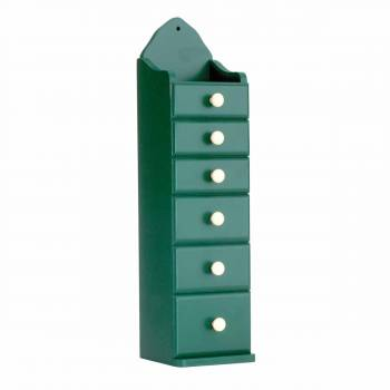 Kitchen Spice Chest Green Hardwood 6 Drawer Chest 16 38H Spice Chests Spice Chest Spice Drawer