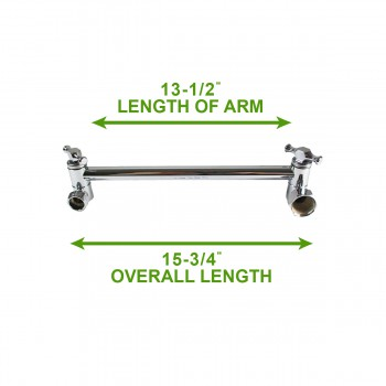 spec-<PRE>Shower Head Chrome Shower Arm Part Only </PRE>