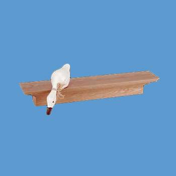 <PRE>Bathroom Shelves Wall Mounted Natural Oak Unfinished Mantle Shelf 30 Inch</PRE>zoom2