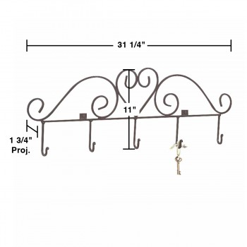 spec-<PRE> Key Hook Rack Heart Forged Black Iron </PRE>