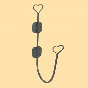 <PRE>Bathroom Hose Holder Heart Black Wrought Iron </PRE>zoom2