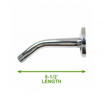 spec-<PRE>Shower Head Chrome Arm/Flange 5.5&quot;L Part Only </PRE>