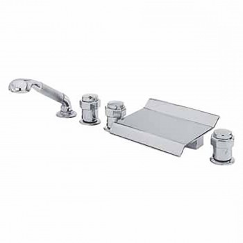 Waterfall Tub Faucet Shower Head DeckMount Chrome Clawfoot Tub Faucet Tub Faucet Tub Faucets