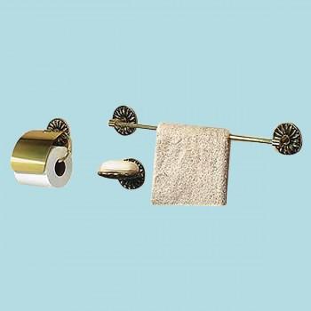 <PRE>Vintage Brass Towel Bar Victorian Daisy 30inch L </PRE>zoom2