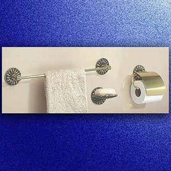 <PRE>Vintage Brass Towel Bar Victorian Daisy 30inch L </PRE>zoom3