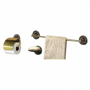 Vintage Brass Towel Bar Victorian Daisy 30