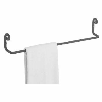 Towel Bar Black Wrought Iron Bar 24