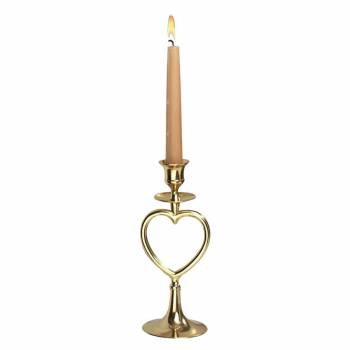 <PRE>Candlesticks Bright Brass Heart Candlestick Holder 8inchH </PRE>zoom1