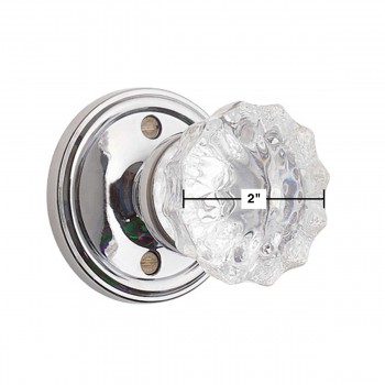 "spec-<PRE>Privacy Door Knob Set 2 3/8"" Clear Glass </PRE>"