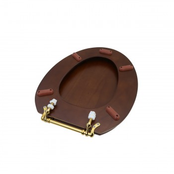 Toilet Seat Elongated Solid Wood Dark Oak Brass Hinge wooden toilet seats wood toilet seats wood toilet seat