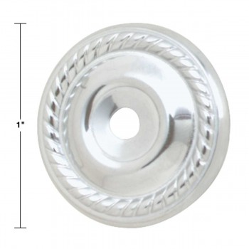 "spec-<PRE>Cabinet Knob Rosette Bright Chrome 1"" </PRE>"