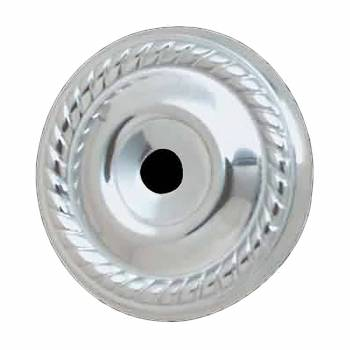 <PRE>Cabinet Knob Rosette Bright Chrome 1 1/4inch Roped </PRE>zoom1