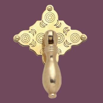<PRE>Cabinet Pull Bright Solid Brass Diamond Drop 3 1/8inch </PRE>zoom2