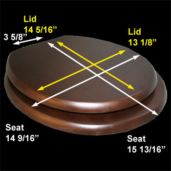 spec-<PRE>Toilet Seat Round Solid Wood Dark Oak Chrome Hinge </PRE>