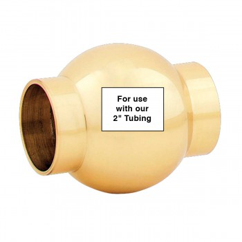 spec-<PRE>Brass Ball Joint Fitting 2&quot; OD Bar Foot Rail Connector </PRE>