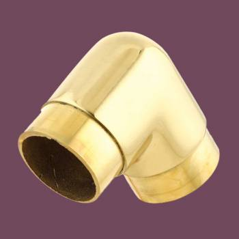 Brass Flush Elbow Fitting 90 degree 2 OD Bar Foot Rail Flush Elbows Brass Elbow Tubing Elbow Parts