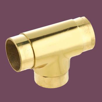 <PRE>Polished Brass Flush TEE Fitting 2inch Bar Rail Connector </PRE>zoom2