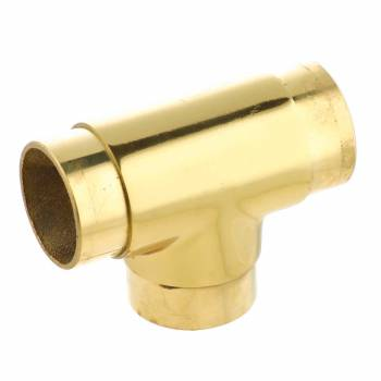 <PRE>Polished Brass Flush TEE Fitting 2inch Bar Rail Connector </PRE>zoom1