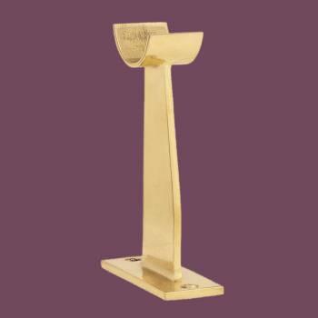 <PRE>Bar Foot Rail Floor Bracket Fitting 2inch OD Solid Brass </PRE>zoom2
