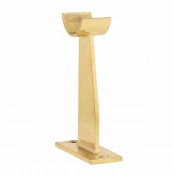 Bar Bracket Floor Bracket Polished Brass