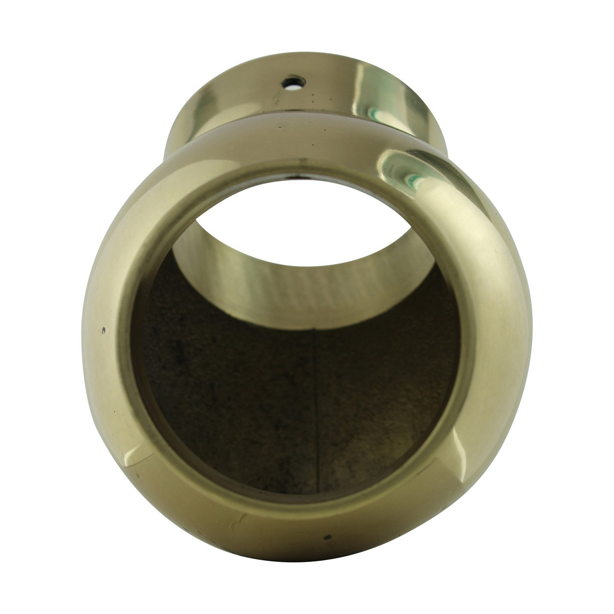 Tubing Connector Polished Brass Ball Joint Fit 1.5 OD Ball Rail Side Outlet Ball Foot Rail Fitting Ball Elbow Fitting