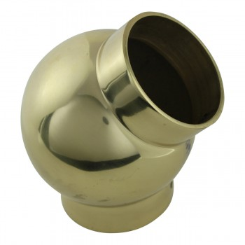 <PRE>Tubing Connector Polished Brass Ball Joint Fit 1.5inch OD </PRE>zoom4