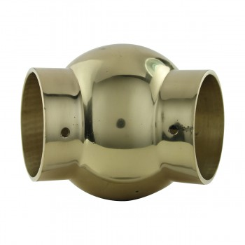 <PRE>Tubing Connector Polished Brass Ball Joint Fit 1.5inch OD </PRE>zoom9