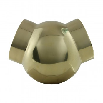 Ball Fitting Ball Joint Polished Brass