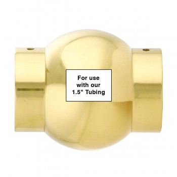 spec-<PRE>Tubing Connector Polished Brass Ball Joint Fit 1.5&quot; OD </PRE>