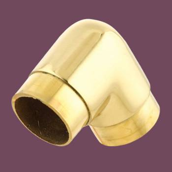 <PRE>Brass Elbow 90 degree Fitting 1.5inch OD Bar Foot Rail </PRE>zoom2