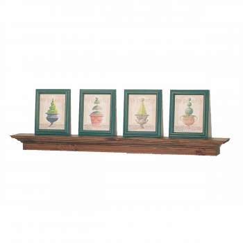 Bathroom Shelves Natural Stain Oak Mantle Shelf 60